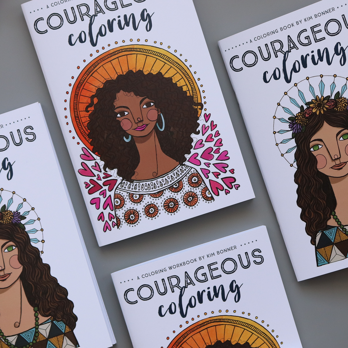 Courageous Coloring books and workbooks by Kim Bonner
